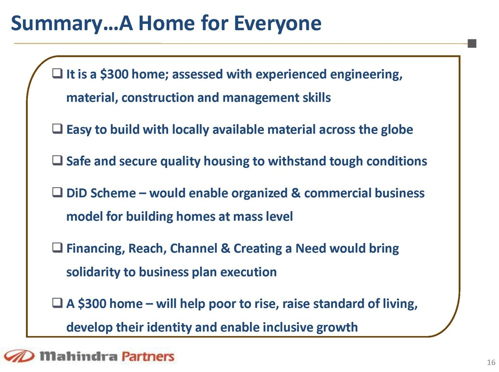 300home mahindra partners page 16 bigger