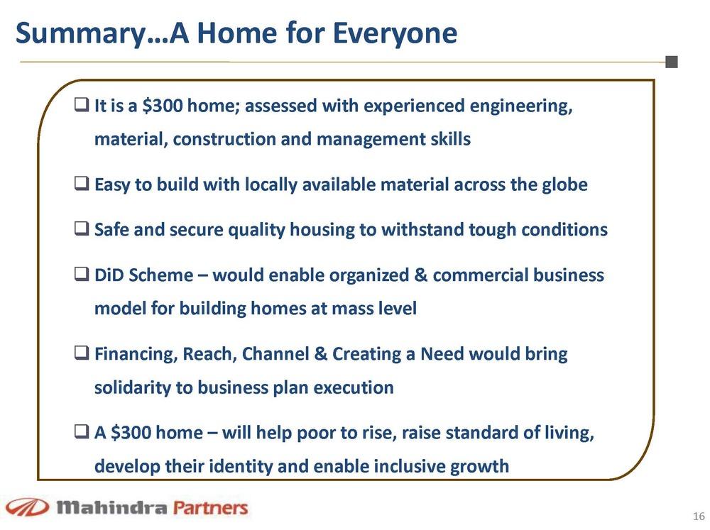 300home mahindra partners page 16 bigger