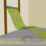 The hollow rubber chair