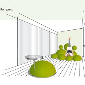 Moos-Pompons