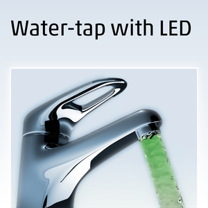 Water-tap with LED