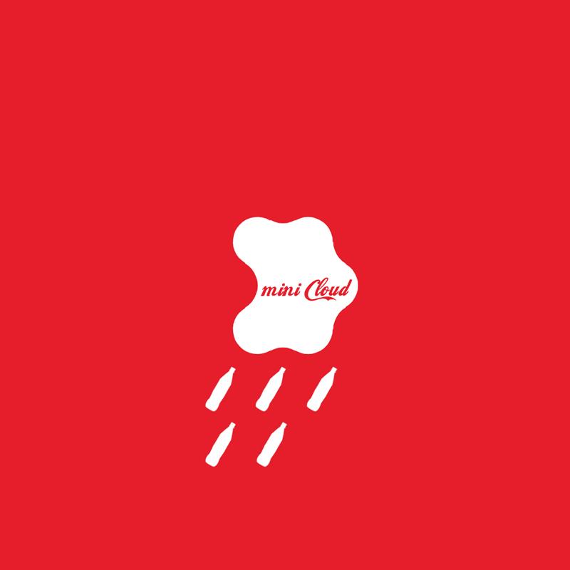 Coca cola mini cloud logo bigger