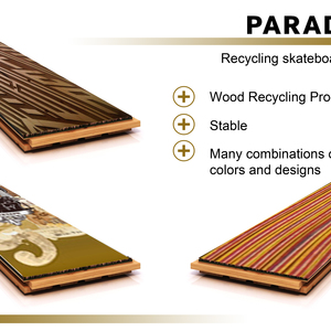recycling skateboards floor