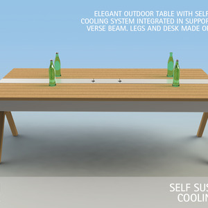 SELF SUSTAINING COOLING TABLE