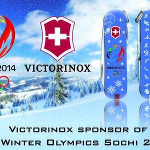 Victorinox, sponsor of the Winter Olympics Sochi 2014