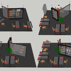Revolving walls and furniture
