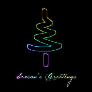 Colorful season's greetings