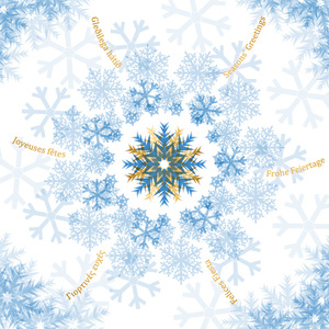 Happy New Snowflake Cards