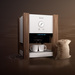 Solid, natural and brave coffe concept