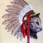 Chief Cat ballpen drawing
