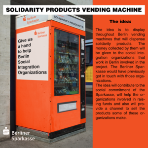 Solidarity products vending machines
