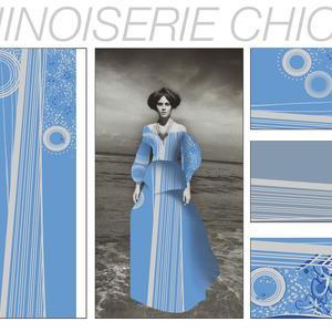"""chinoiserie chic"" textile print design"