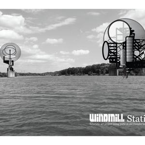 """futuristic sculpture """"windmill station"""""""