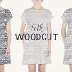 Folk woodcut