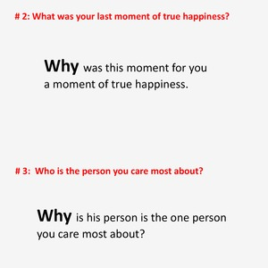 Questions to discover your values.