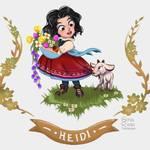 Heidi - Illustration book