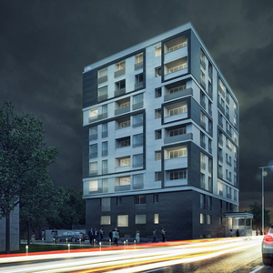 Apartment house rendering