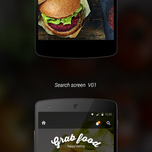 """Grab Food"" Food Delivery Android App"