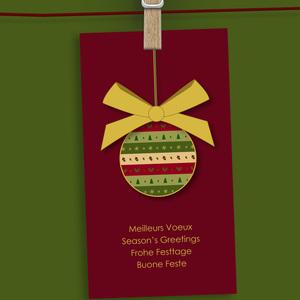Elegant Christmas bauble