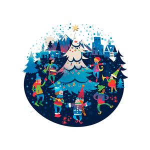 Snowfall celebration