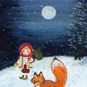Magic winter night