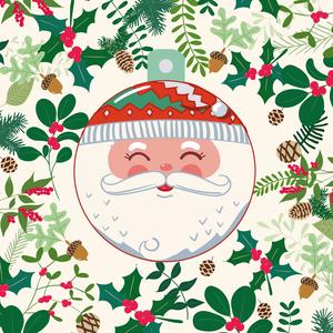 Holiday Card with Santa