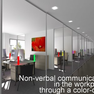 Non-verbal communication in the workplace through a color code