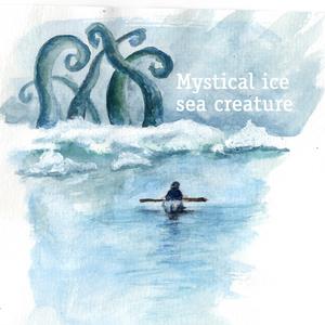 Mystical ice sea creature