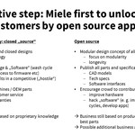 Miele goes open source! - A disruptive paradigm shift for new customers