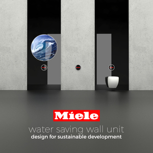 Water saving wall unit