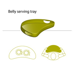 Belly Serving Tray