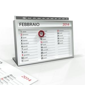 Analog Desk Calendar (whit tabs)