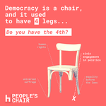 People's Chair - Take a seat, speak your mind