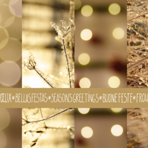 Frost & Fairy Lights Collage / golden