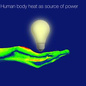 Human body heat as source of power