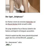 """Der Spot """"Striptease"""""""