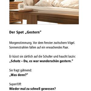 "Der Spot ""Gestern"""