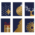 Magical and elegant greeting cards