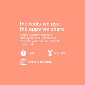the tools we use, the apps we share